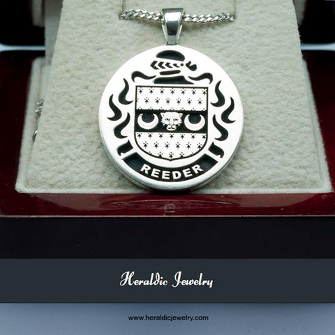 Reeder family crest necklace