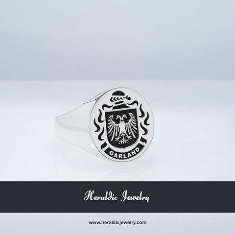 Garland family crest ring