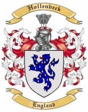 Hollenbeck Family Crest