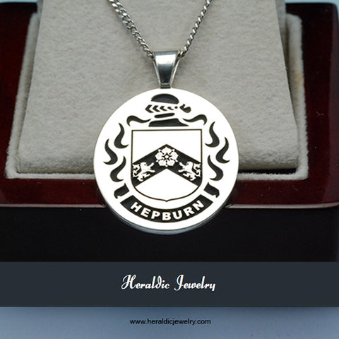 Hepburn family crest necklace