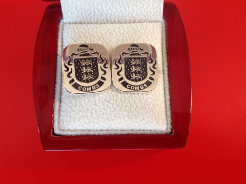 Combs family crest cufflinks
