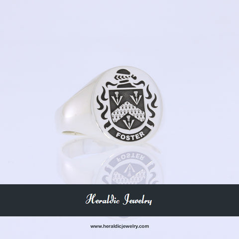 Foster coat of arms ring
