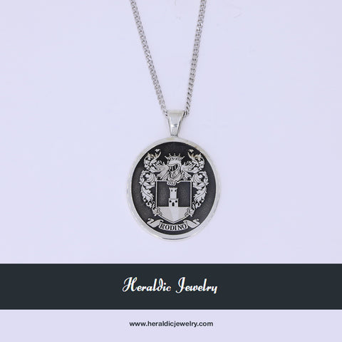 Custom family crest pendant