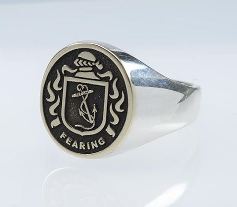 Fearing family crest ring