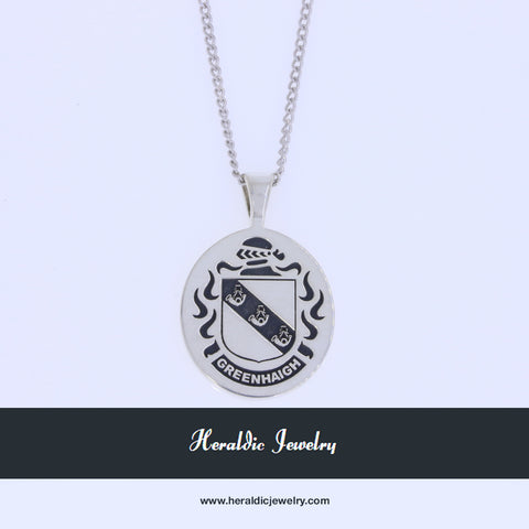 Greenhaigh family crest pendant