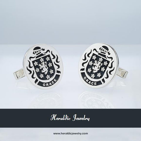 Grace family crest cufflinks