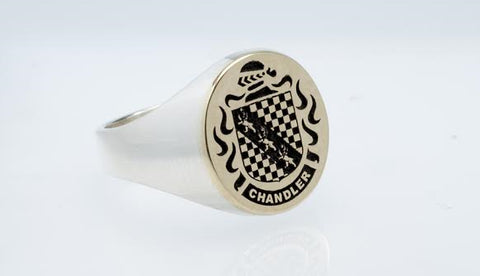 Chandler family crest ring