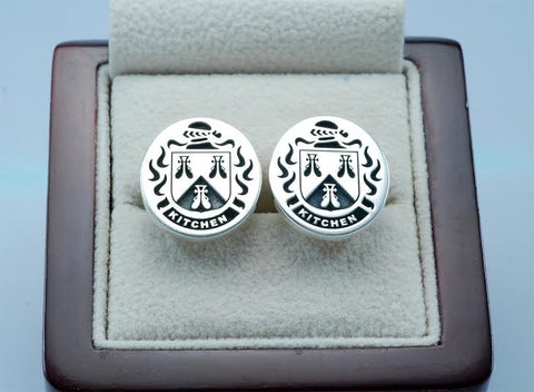 Kitchen family crest cufflinks