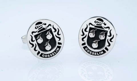 Gosselin family crest cufflinks