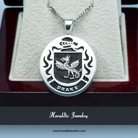 Drake family crest necklace