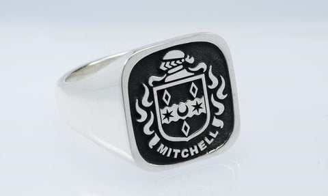 Mitchell family crest ring