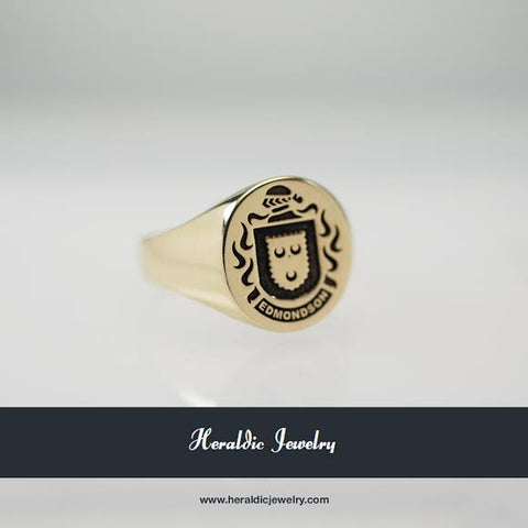 Edmondson family crest ring