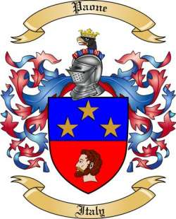Paone Family Crest