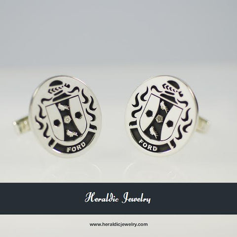 Ford family crest cufflinks