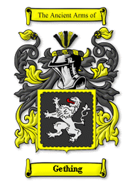 Gething Family Crest