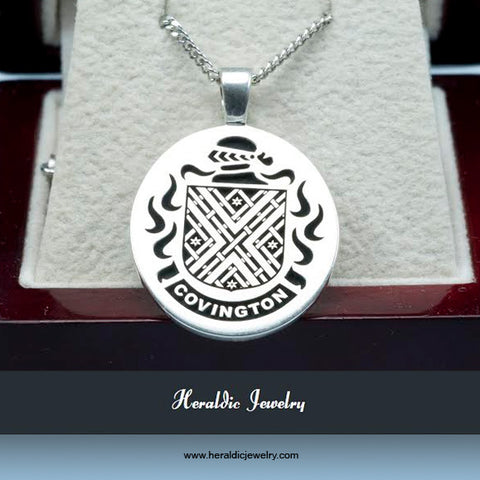 Covington family crest necklace