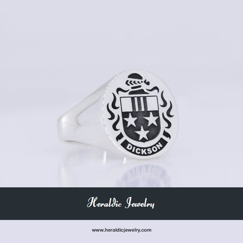 Dickson family crest ring