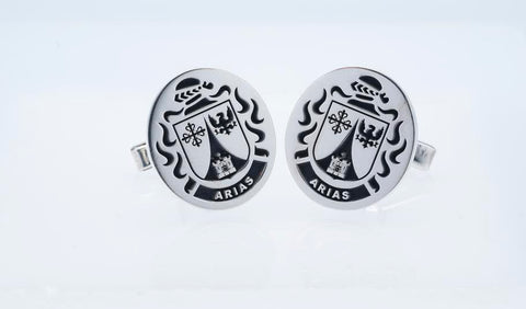 Arias family crest cufflinks