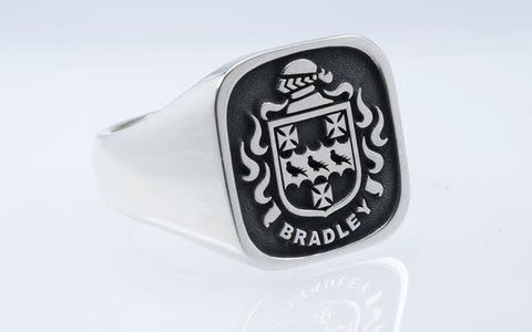 Bradley family crest ring