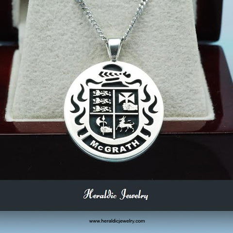 McGrath family crest necklace