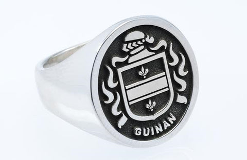 Guinan family crest ring
