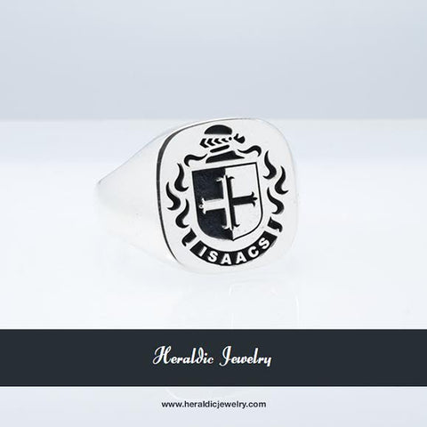 Isaacs family crest ring
