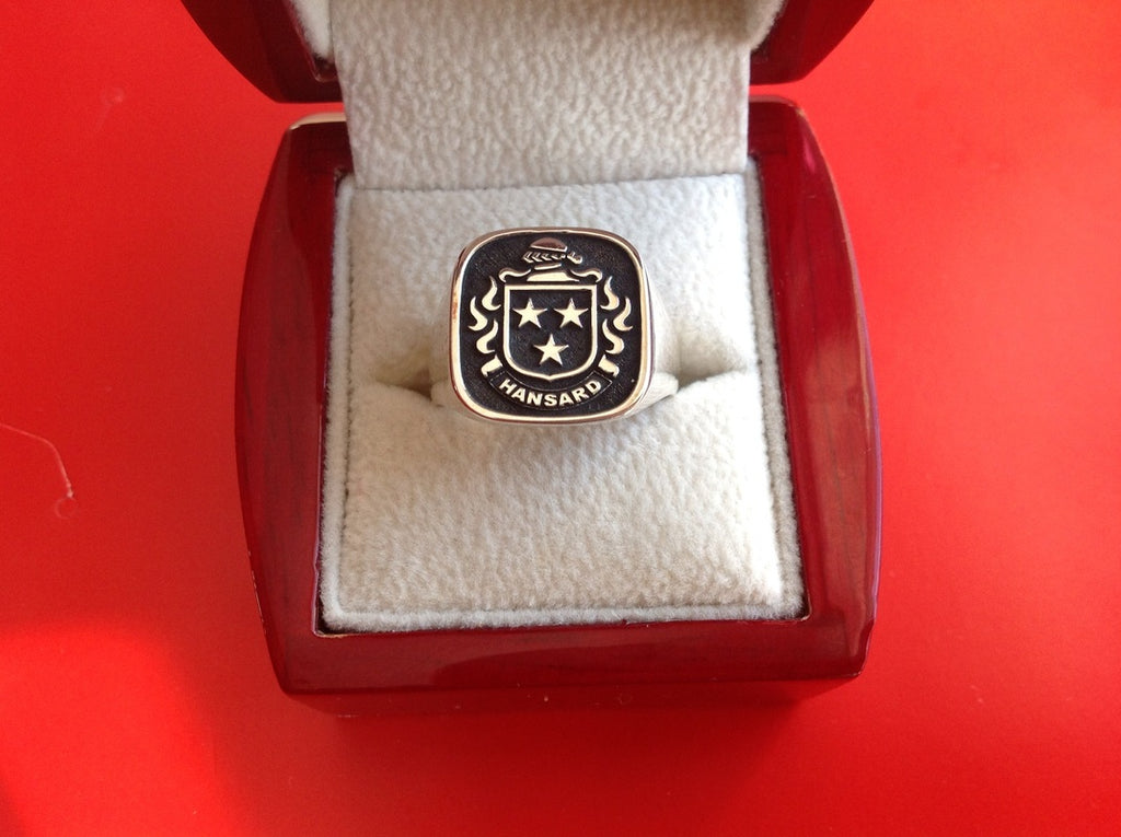 HANSARD RAISED CREST RING