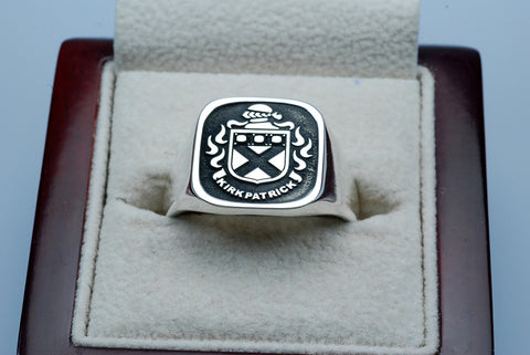 Kirkpatrick family crest ring