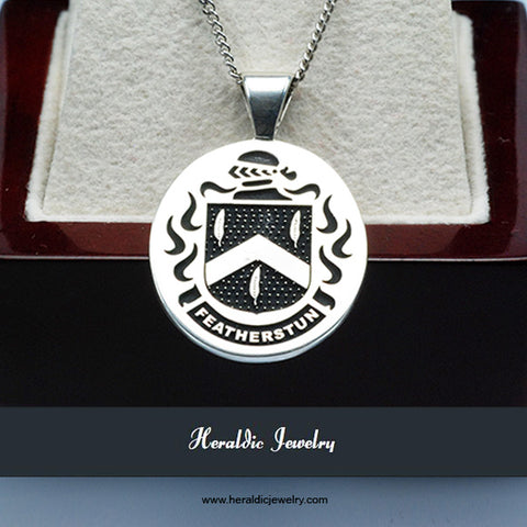 Featherstun family crest necklace