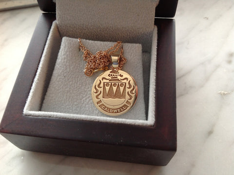 Caldwell family crest pendant