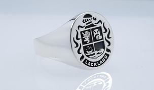 Lackland family crest ring