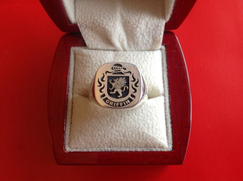 Griffin family crest ring