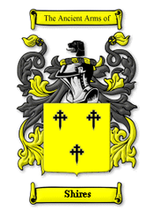Shires Family Crest