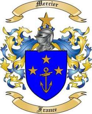 Mercier Family Crest