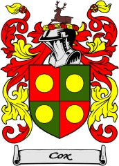 Cox England family crest