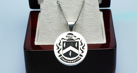 Featherstone family crest pendant
