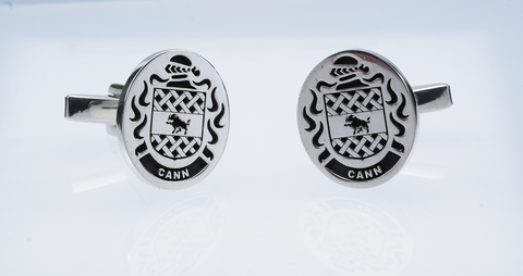 Cann family crest cufflinks