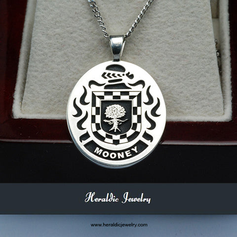 Mooney family crest necklace