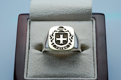 Tatro family crest ring