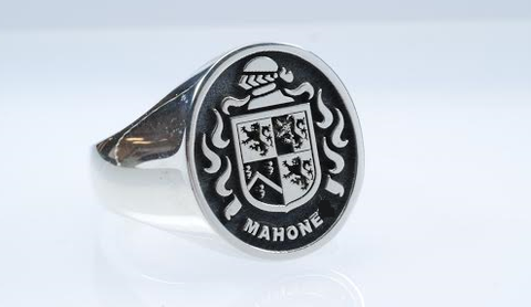 Mahone family crest ring