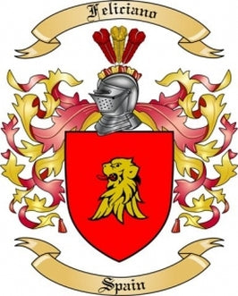 Feliciano Family Crest