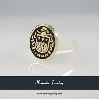 DI MEGLIO RAISED CREST RING