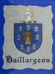 Baillargeon Family Crest