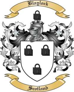 Blaylock Family Crest