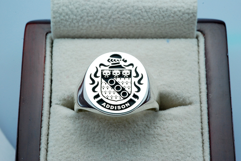 Addison family crest ring
