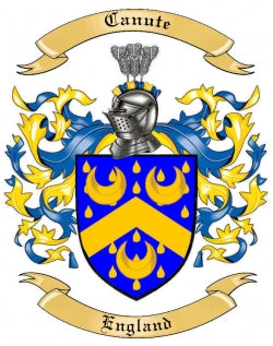 Canute Family Crest