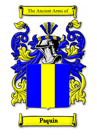 Paquin Family Crest