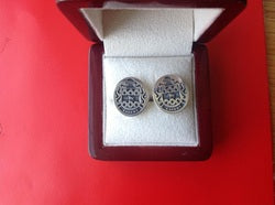 CAHENY FAMILY CREST CUFFLINKS