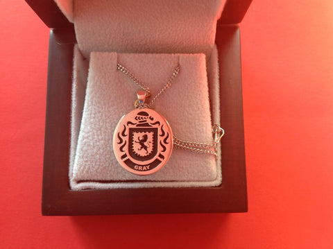 Gray family crest pendant