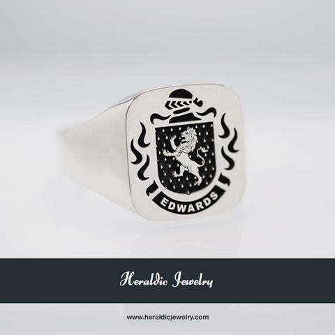 Edwards family crest ring